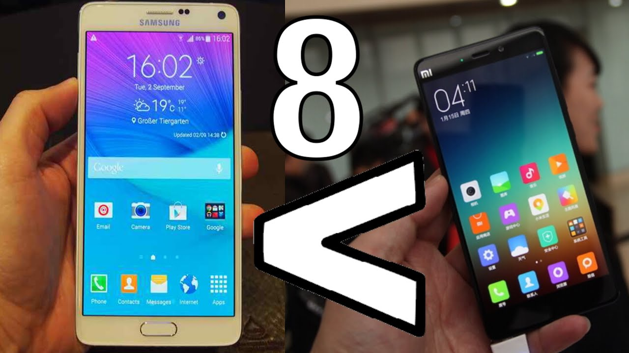 reasons why xiaomi mi note pro is better than galaxy note 4   youtube