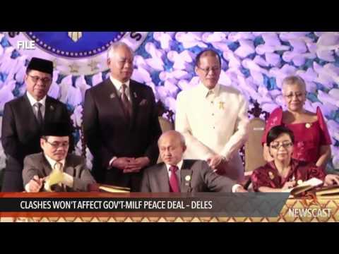 Clashes won't affect gov't MILF peace deal -- Aquino