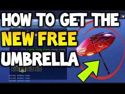 How to Get the *NEW FREE* Umbrella in Fortnite (Paper Parasol) - FOR FREE! - Fortnite Battle Royale