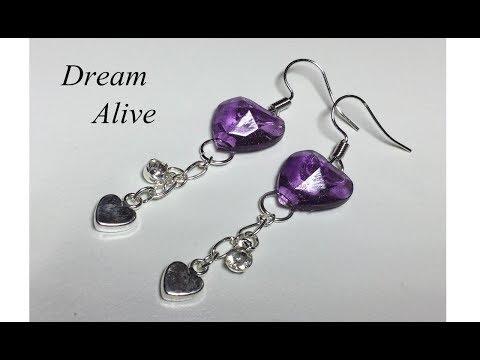 Resin Art Jewelry 레진아트 액세서리 - 우아한 보라빛 귀걸이 만들기 Making Elegant Purple Earring