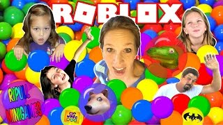 PARTY IN THE BALL PIT! ENTIRE FAMILY PLAYS! | WPFG Roblox Ripull MiniGames Game Night