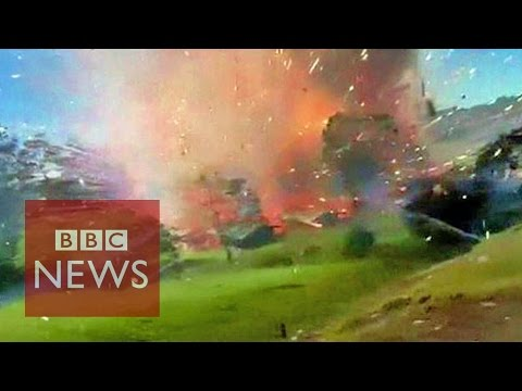 Incredible: Fireworks factory explosion caught on camera in Colombia