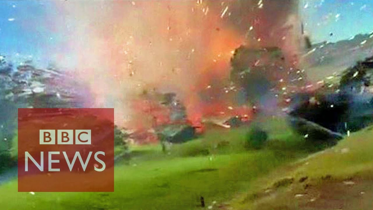 Download Incredible: Fireworks factory explosion caught on camera in Colombia