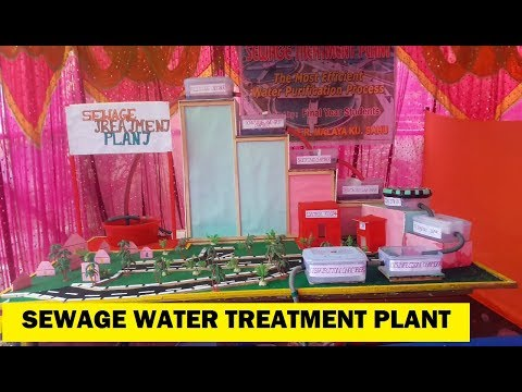 Sewage Water Treatment Plant Civil Engineering Project For Diploma and Degree