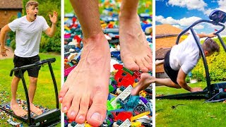 TESTING THE WORLD'S BIGGEST FEET ON LEGO... (MIND BLOWING)