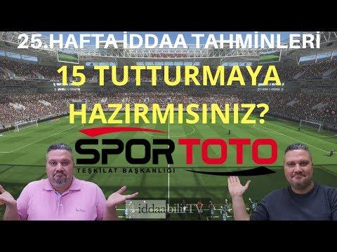 Spor TOTO 25.hafta iddaa tahminleri/picks/iddaabilirTV