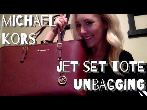 Michael Kors Jet Set Travel Tote Unbagging