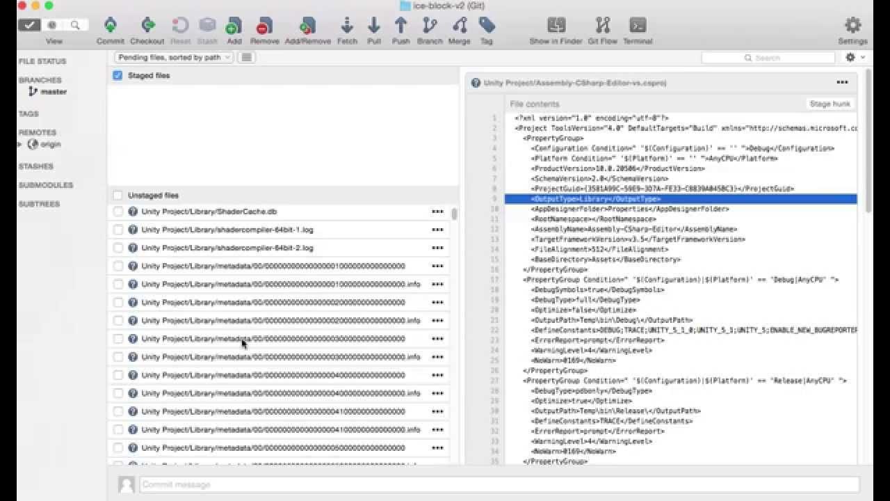 Como configurar o git ignore no Source Tree para projetos na Unity