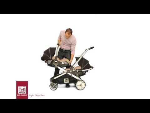 Poussette double EVOLUTWIN de RED CASTLE - YouTube d5b26fbc1b1