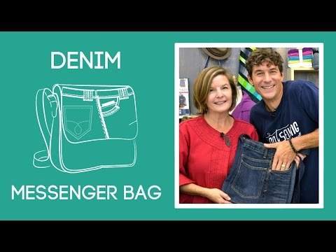 Denim Messenger Bag with Amy Barickman