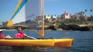 La Jolla to Mission Bay Hobie Mirage Tandem Adventure (TI) Sailing