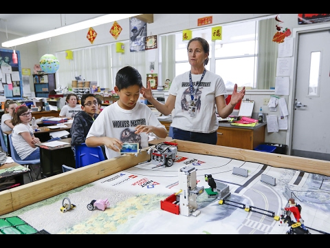 Robotics team at Alice Shaw Elementary use programming and imagination to protect wolves