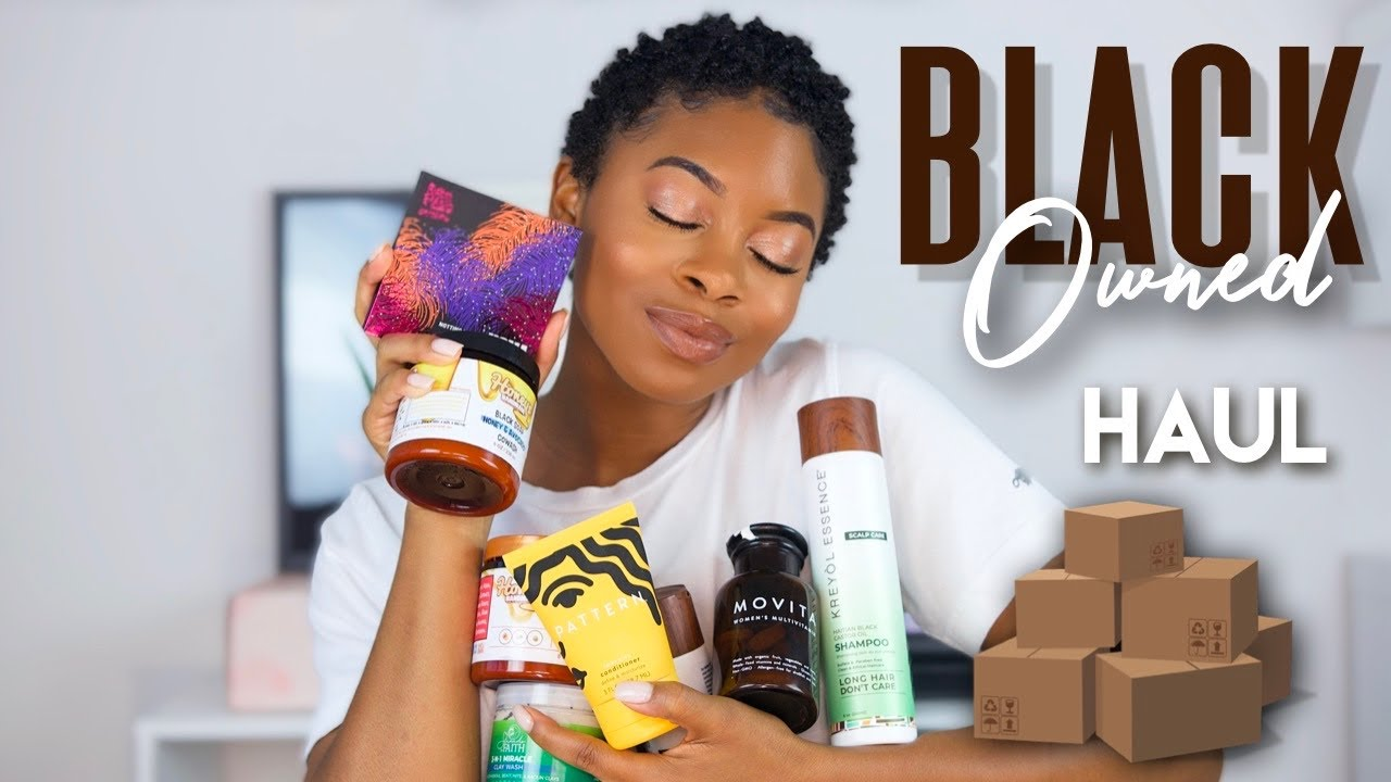 HUGE *BLACK OWNED* BUSINESS HAUL! [ hair, skin, body care, makeup, clothes, household items + MORE ]