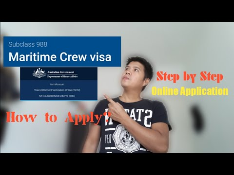 Online Application/How to apply/Maritime Crew Visa/Step by step application...