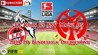 Sunday 17th may fc köln vs fsv mainz 05 | 2019-20 german bundesliga predictions fifa 20subscribe & turn on notificationsif you liked the video, please leav...