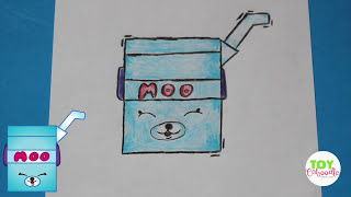 "How to Draw Shopkins Season 4 ""Milk Bud"" Special Edition Petkins 