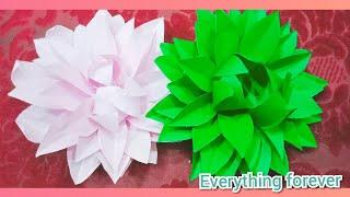 diy dahlia paper flower tutorial