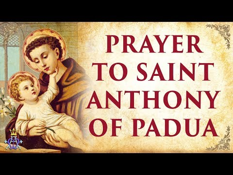 Saint anthony upside down
