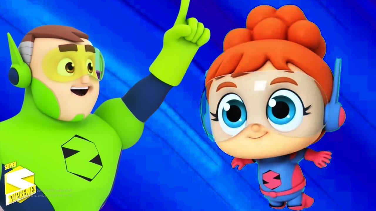 Búsqueda del tesoro | Canciones infantiles | Educación | Super Supremes Español | Dibujos animados