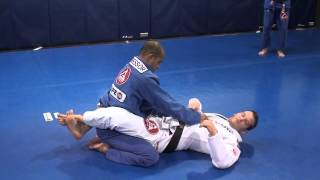 Triangle choke set up from closed guard using belt control