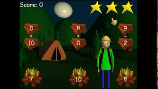 Baldi's Basics Plus! | V.0.3 | (Camping Minigame Remastered!)
