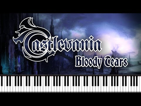 Synthesia [Piano Tutorial] Castlevania - Bloody Tears