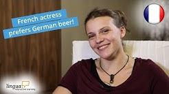 """LinguaTV """"Behind the scenes"""" / Französisch für Anfänger: Interview mit Schauspielerin Sophie"""