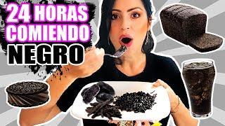 24 HORAS COMIENDO NEGRO | RETO SandraCiresArt | All Day Eating Black Food Challenge