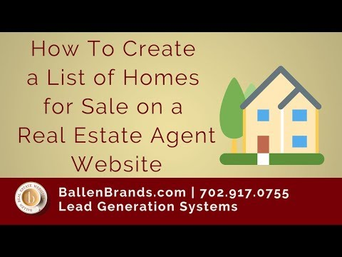 How To Create a List of Homes For Sale for your Real Estate Agent Website | Lori Ballen