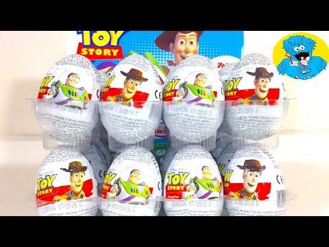 Киндер Яйца Сюрприз по мультику История Игрушек,Unboxing Surprise Eggs Toy Story 3