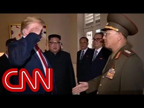 Trump salutes North Korean general