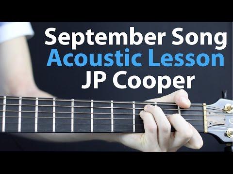 JP Cooper: September Song Acoustic Guitar Lesson EASY