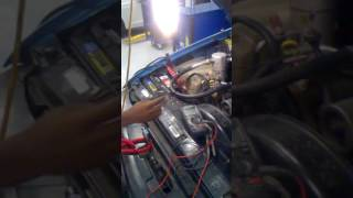 Testing the magnetic clutch on an a/c compressor