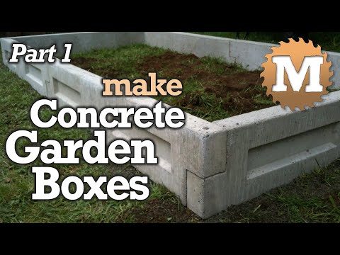 Amazing Concrete Garden Boxes PART 1- DIY Forms to Pour and Cast Cement Planter link together Beds
