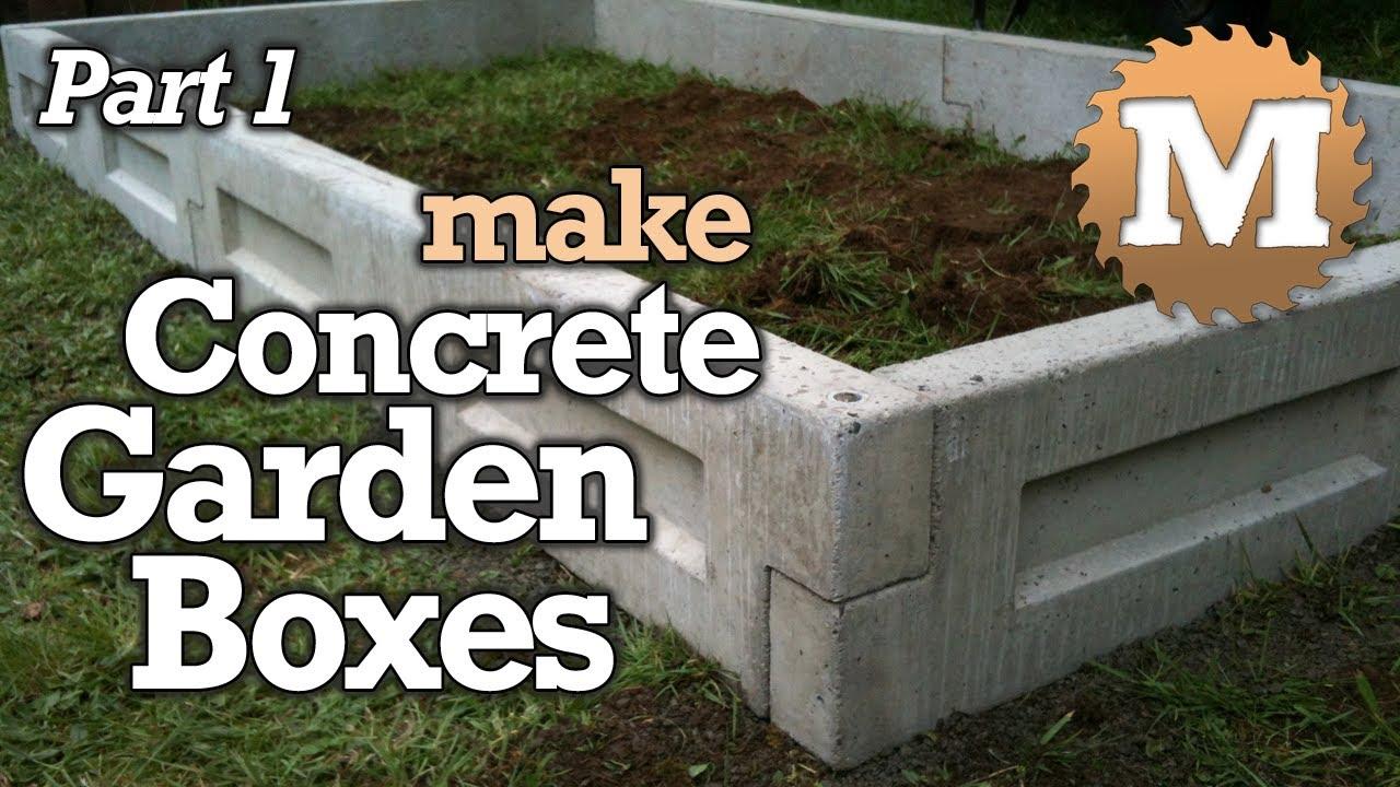 amazing concrete garden boxes part