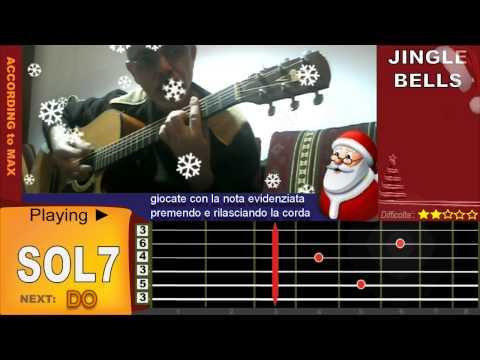 Christmas Song Tutorial / how to play JINGLE BELLS on Guitar / Chords Accordi Chitarra