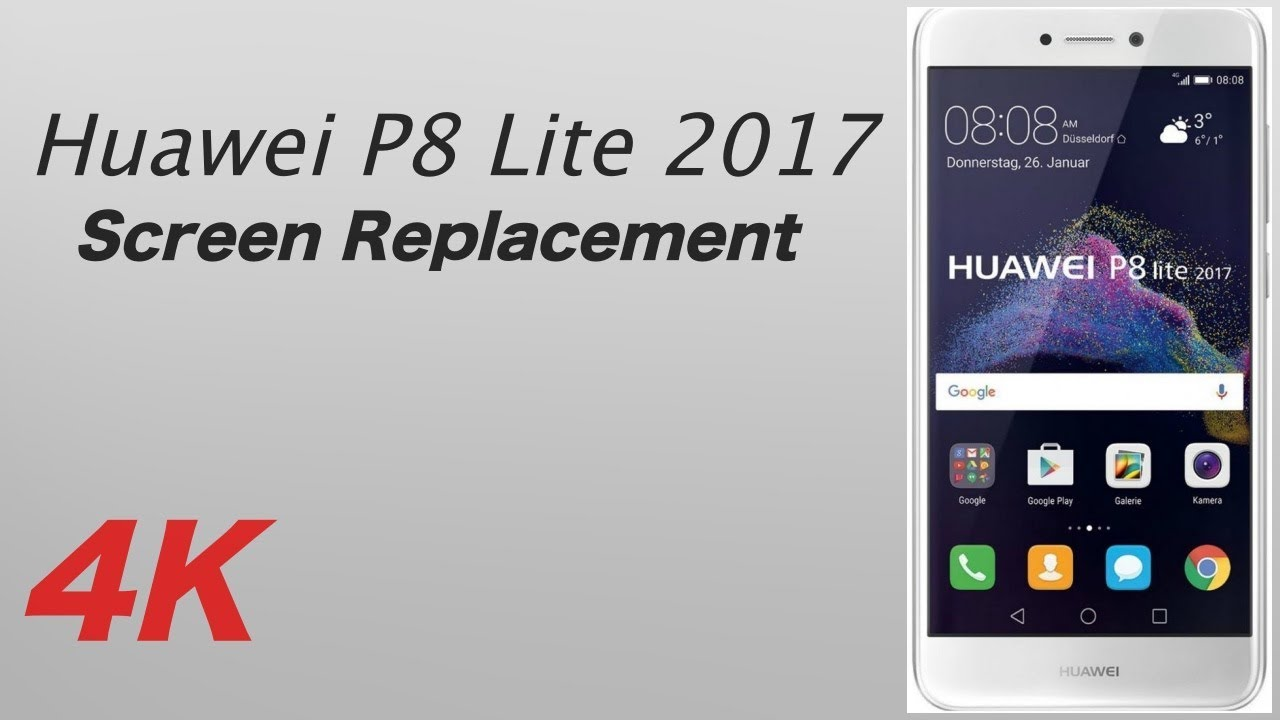71d6beb2d2f4d Huawei P8 Lite 2017 Screen Replacement - YouTube