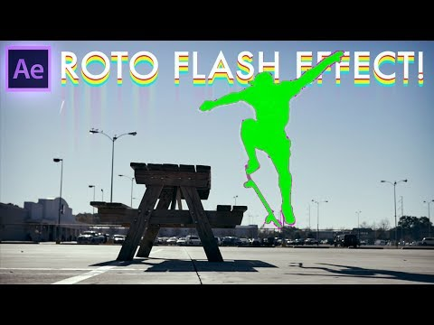 Adobe After Effects Tutorial: BODY FLASH Rotoscoping Effects (How to / CC 2017)
