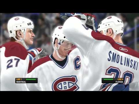 NHL 08 - Montreal vs. Florida - Superstar Difficulty - PS3