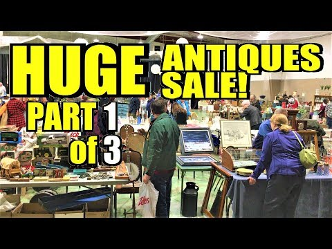 Ep234: QUEEN CITY VINTAGE MARKET - HUGE ANTIQUES & COLLECTIBLES SALE! - Part 1 of 3