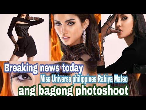 Breaking News Today Miss Universe Philippines Rabiya Mateo ang bagong pasabog sa photoshoot nito