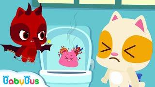 Baby Kitten's Potty   Good Habits Song   Potty Training   Nursery Rhymes   Kids Songs   BabyBus