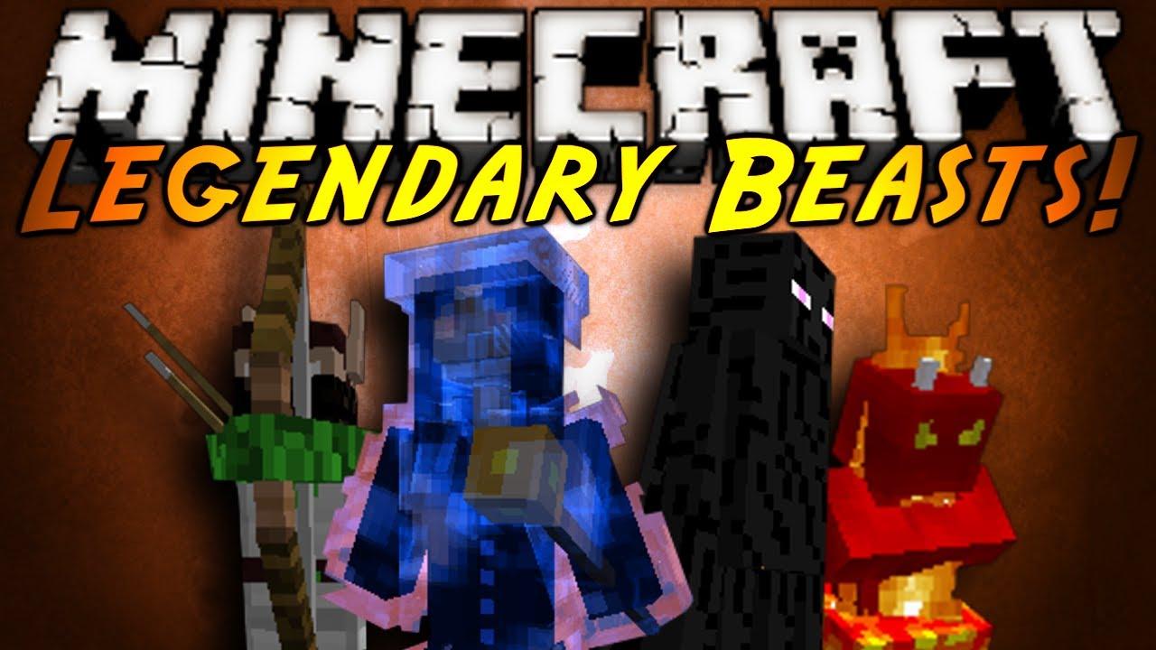 Minecraft mod showcase legendary beasts youtube