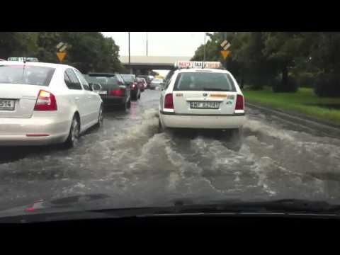 Warsaw under water