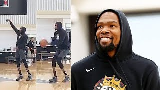 Kevin Durant Nets Practice While Recovering From Achilles Injury!