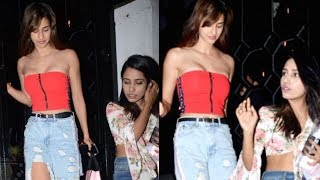 Disha Patani SPOTTED In RED CROP TOP And Rugged Jeans | Bollywood Rewind