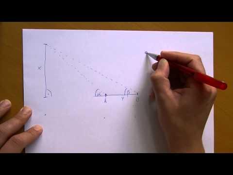 Entfernungsmessung Mit Parallaxe : Experiment zur entfernungsmessung mit winkeln youtube