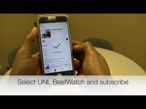 How to Subscribe to BeefWatch Podcast—iPhone