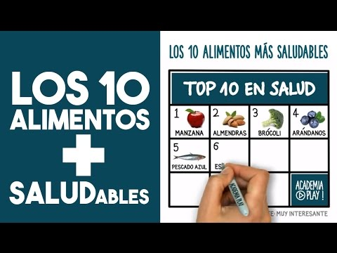 Los 10 alimentos m s saludables top ten youtube - Los alimentos mas saludables ...