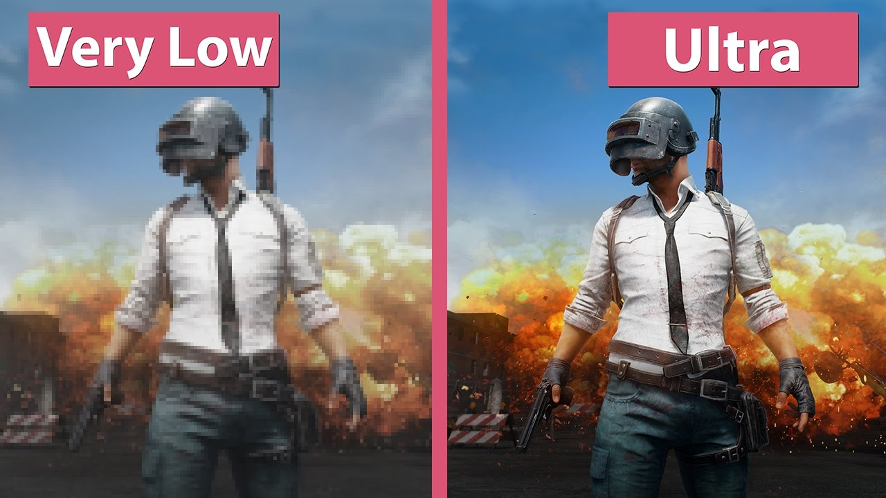K Playerunknowns Battlegrounds Pc K Very Low Vs Ultra Graphics Comparison